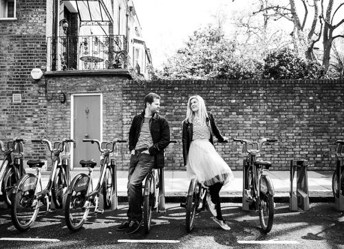 London engagement shoot at Holland Park