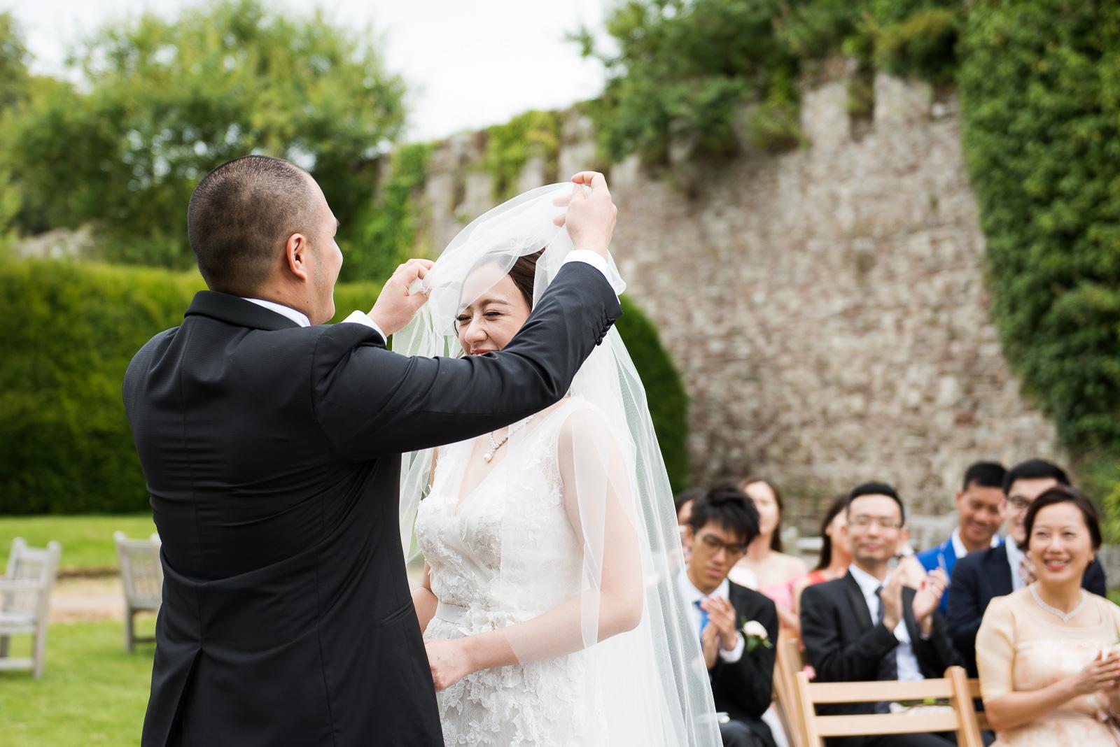 Capturing Your Wedding Story Thornbury Castle outdoor wedding ceremony
