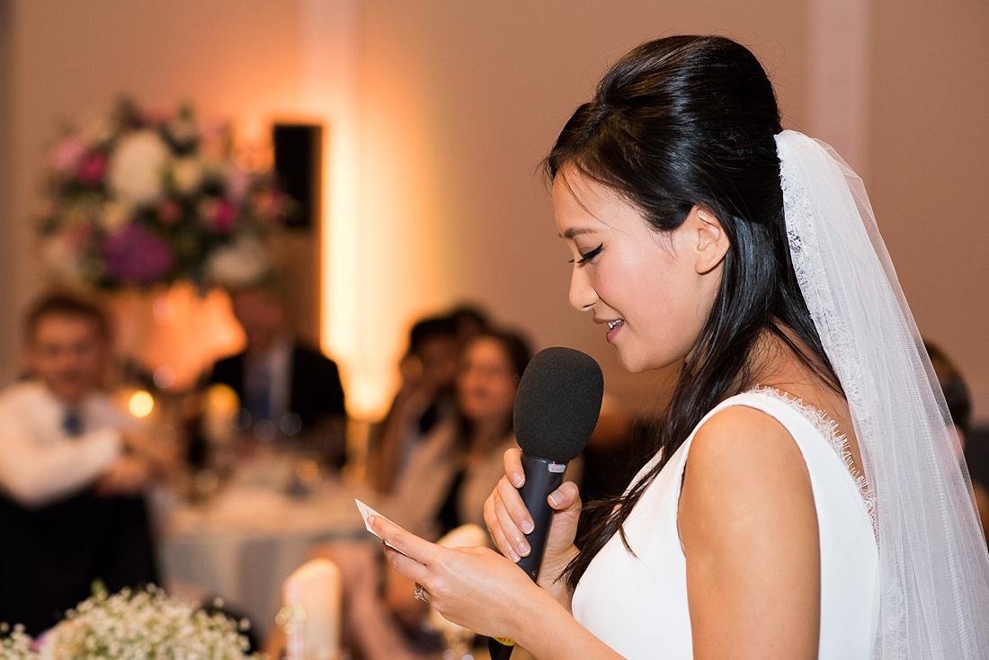 Beautiful bride delivers wedding speech RSA London