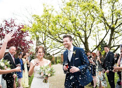 A pretty blush & green Springtime Gaynes Park wedding