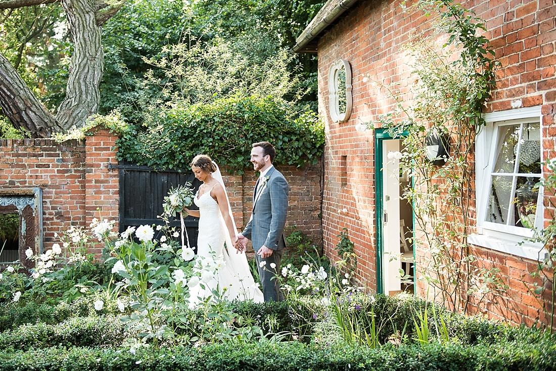 Beautiful rustic wedding portrait Gaynes Park