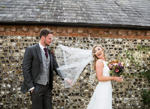 West Sussex wedding photographer / A beautiful & stormy Autumn wedding at Farbridge