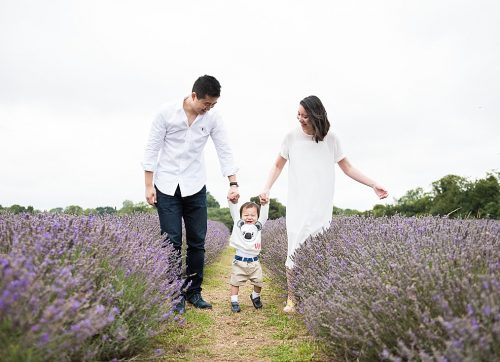 A Lavender family shoot with Sarah & Wayne