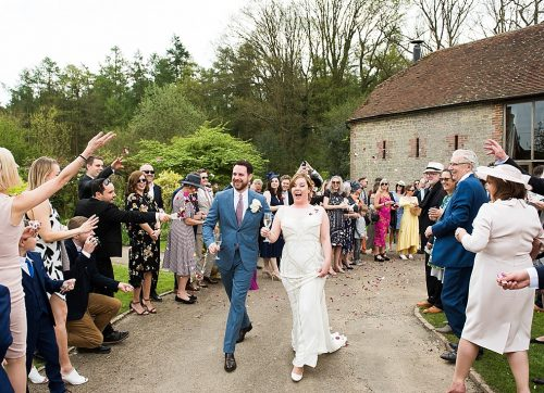 Fun outdoor countryside wedding at Bartholomew Barn in Sussex – Cady & Dave