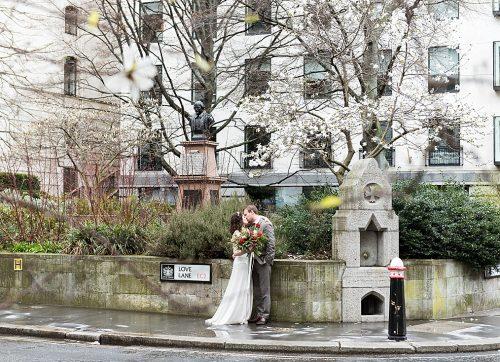 Cosy & Stylish central London wedding at The Anthologist - Clare & Stu