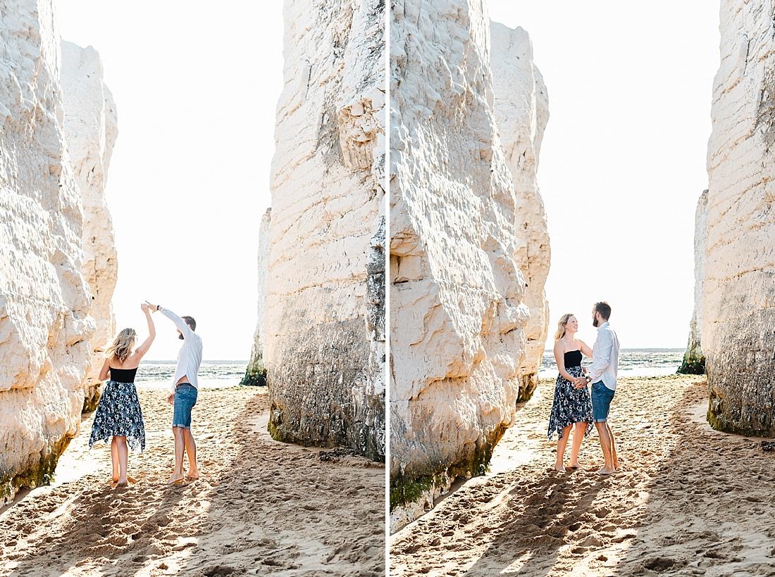 Cliffside engagement Kent