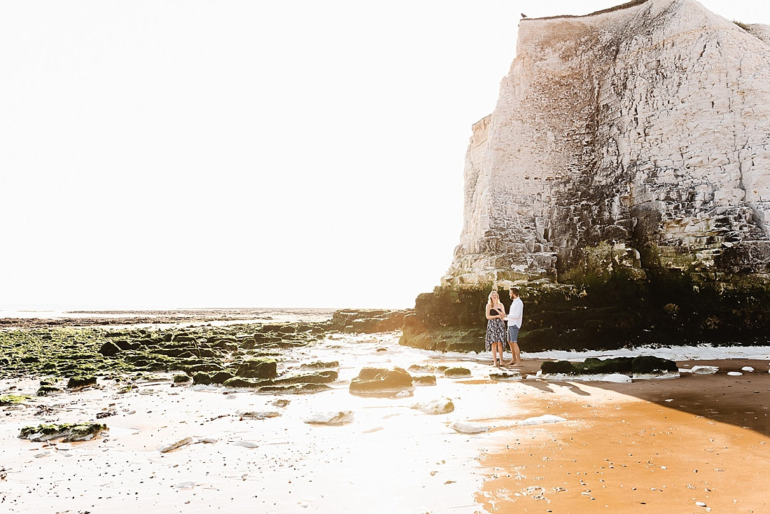 Golden hour portrait Botany Bay Kent UK