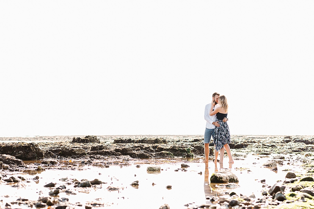 Kent engagement shoot on the beach