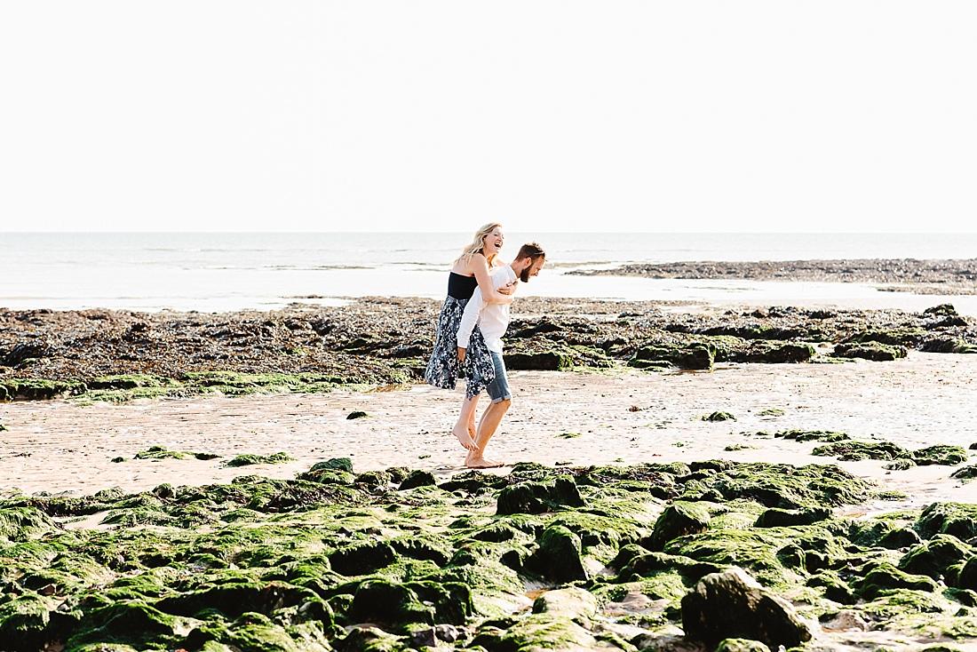 Couple on Botany Bay beach