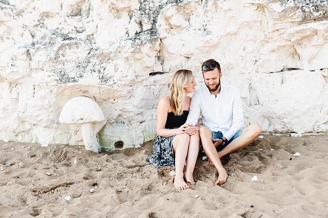 Romantic engagement shoot Kent