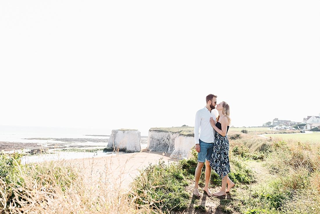 Kent beach engagement shoot