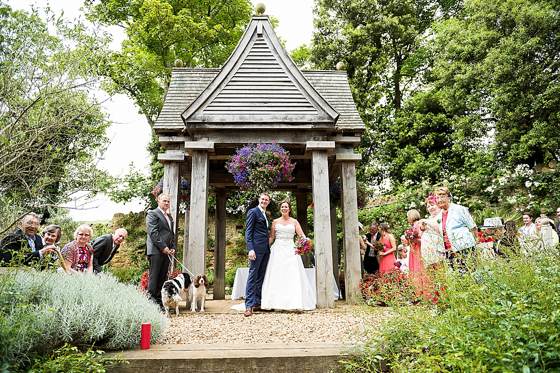 Outdoor Dorset wedding at Abbotsbury Gardens - Hayley & Simon