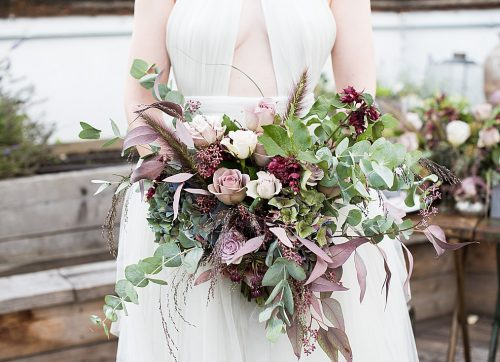 Styled Shoot / Urban Romance with tones of muted purple and pewter