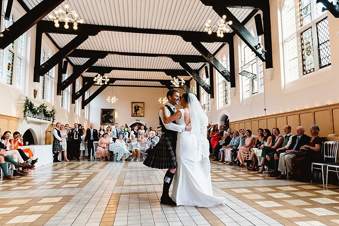 Surrey wedding photography first dance Fiona Kelly Photography