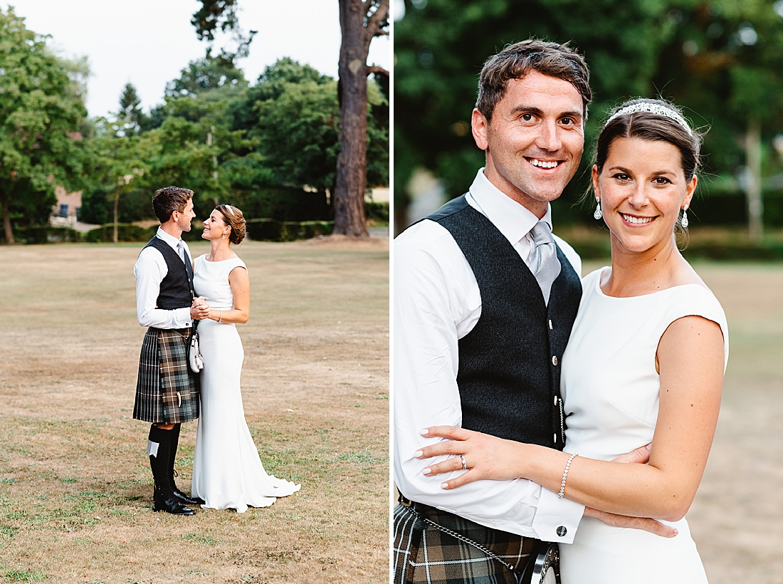 Natural wedding portraits Surrey Fiona Kelly Photography