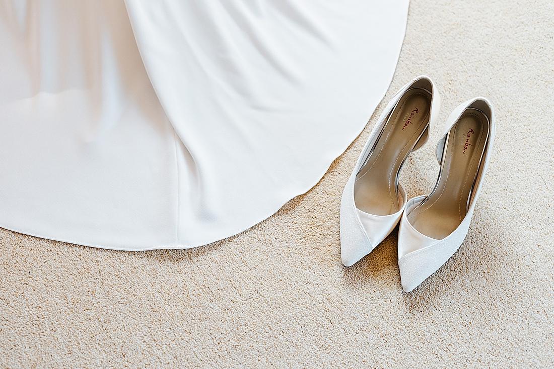 Rainbow club wedding shoes white