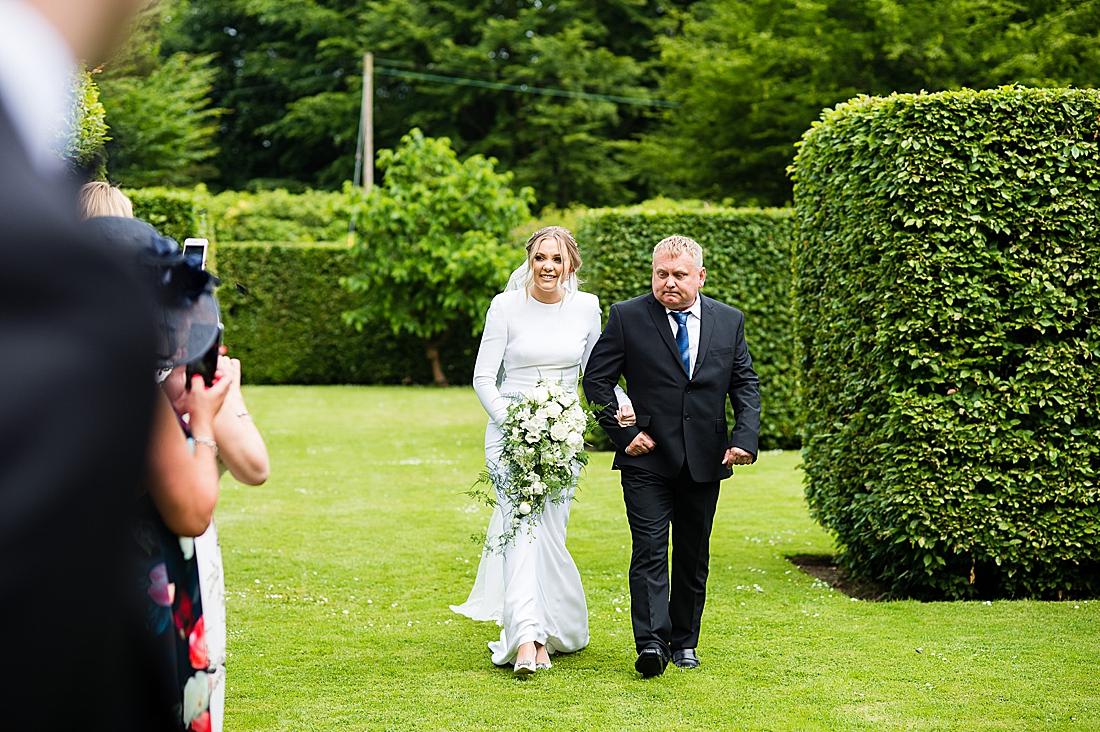 stella mccartney bride outdoor ceremony yorkshire