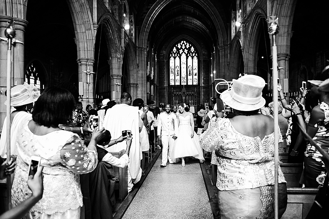 black and white church wedding photography © Fiona Kelly Photography