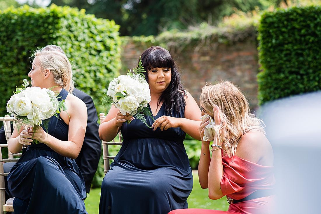 navy bridesmaids yorkshire wedding