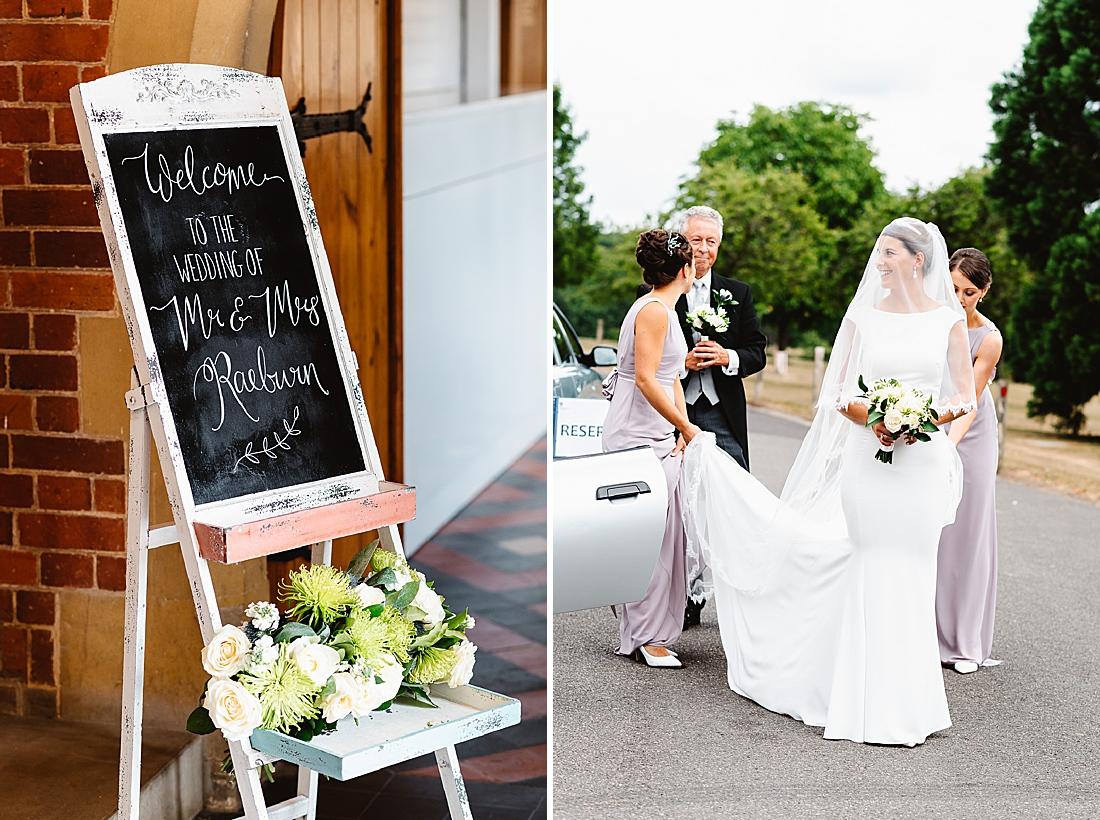 Chalkboard wedding sign Surrey