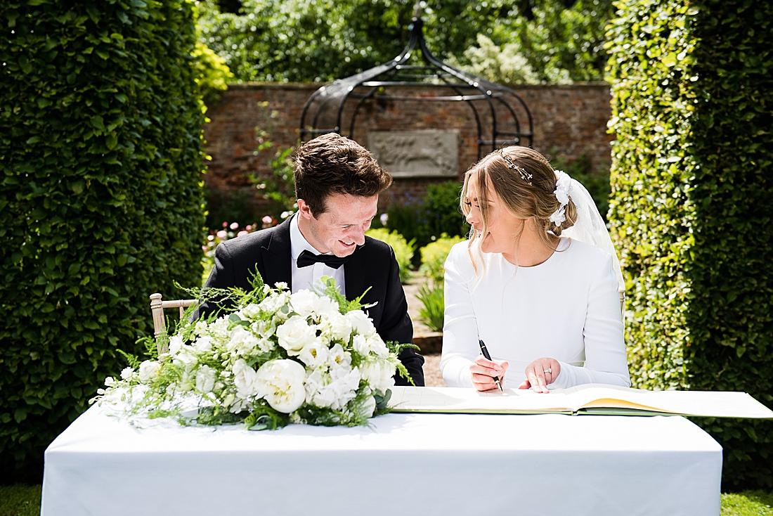 black tie wedding outdoor wedding yorkshire