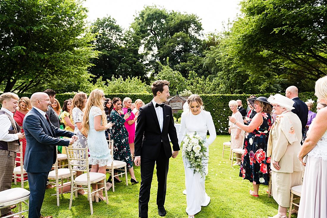 stylish outdoor wedding yorkshire