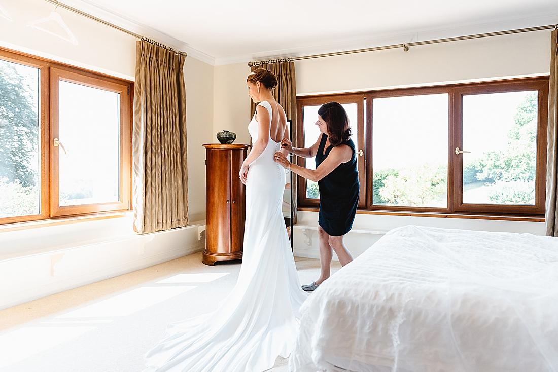 Sleek Surrey wedding dress
