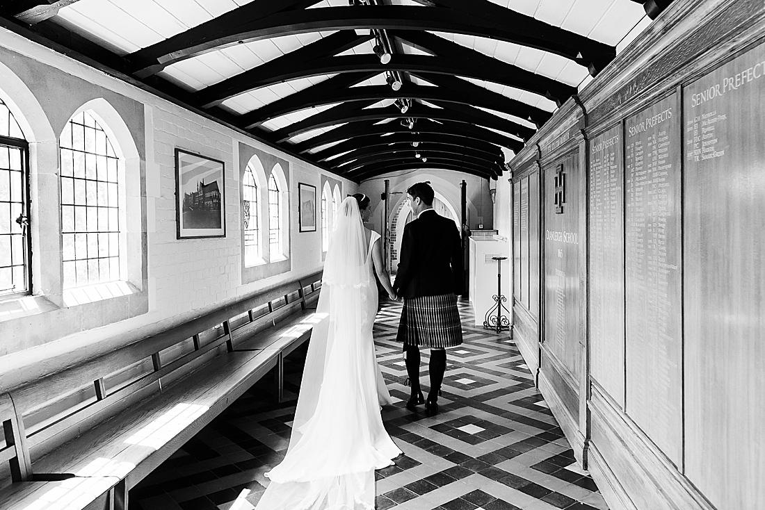 Surrey wedding photography Cranleigh School