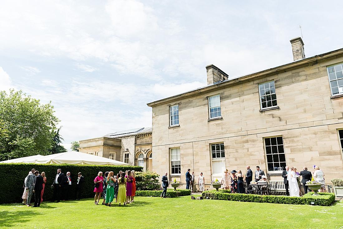 outdoor wedding reception saltmarshe hall wedding