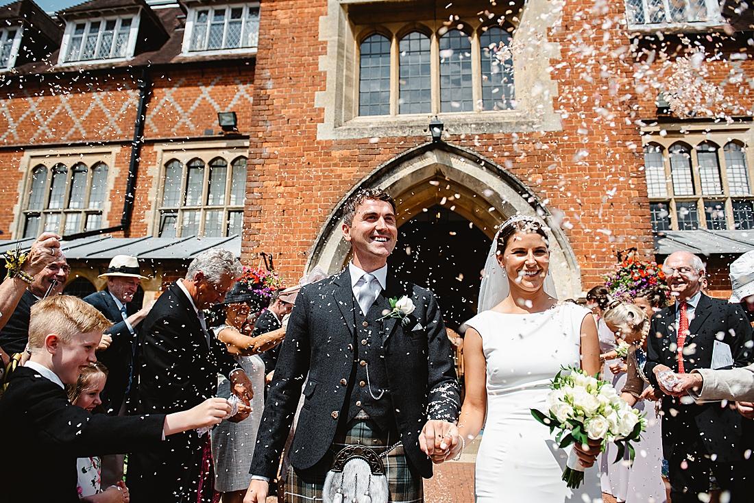 Surrey wedding confetti