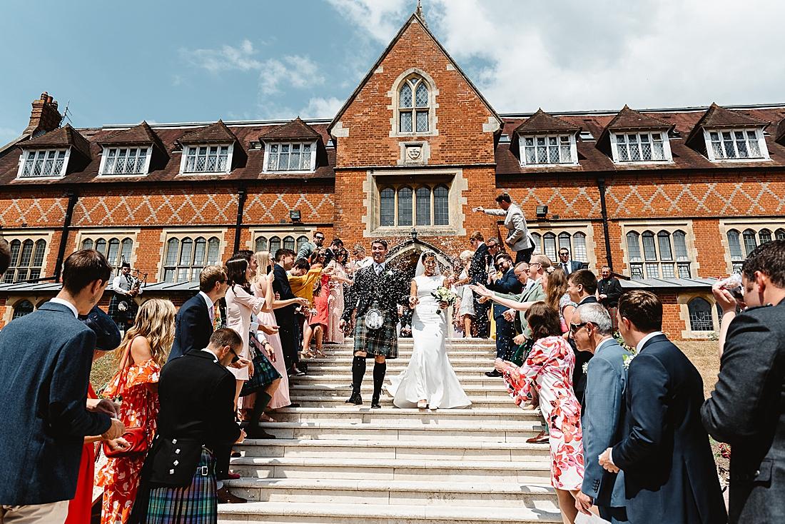 Surrey wedding venue Cranleigh School