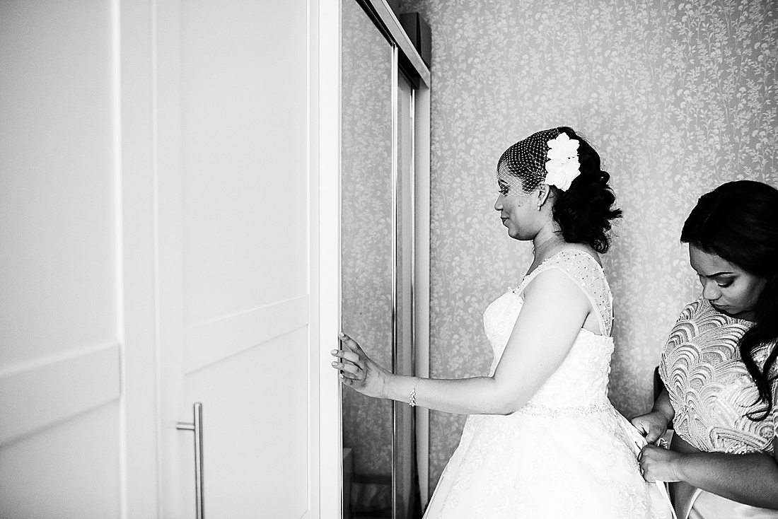 black bride African London wedding © Fiona Kelly Photography