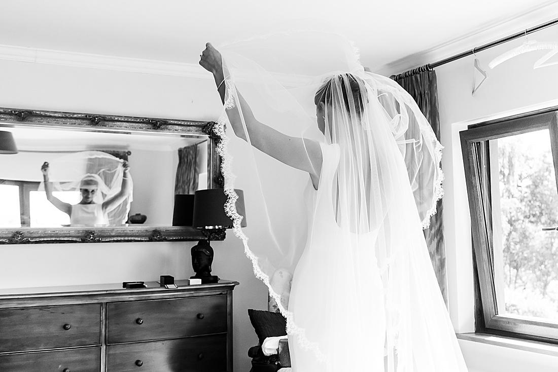 Cathedral veil Surrey bride