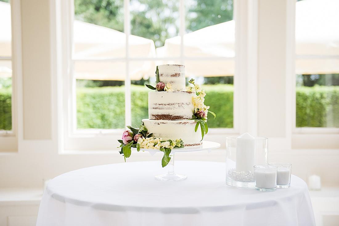 naked wedding cake stylish wedding yorkshire