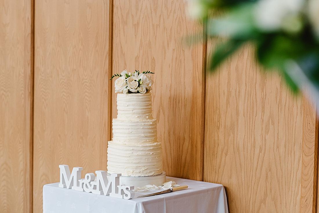 Elegant white wedding cake ideas Surrey