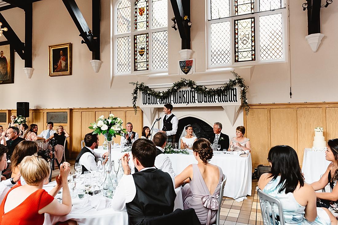 Cranleigh School Hall wedding reception Surrey