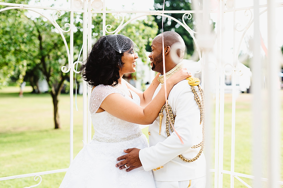 African couple London wedding portrait © Fiona Kelly Photography