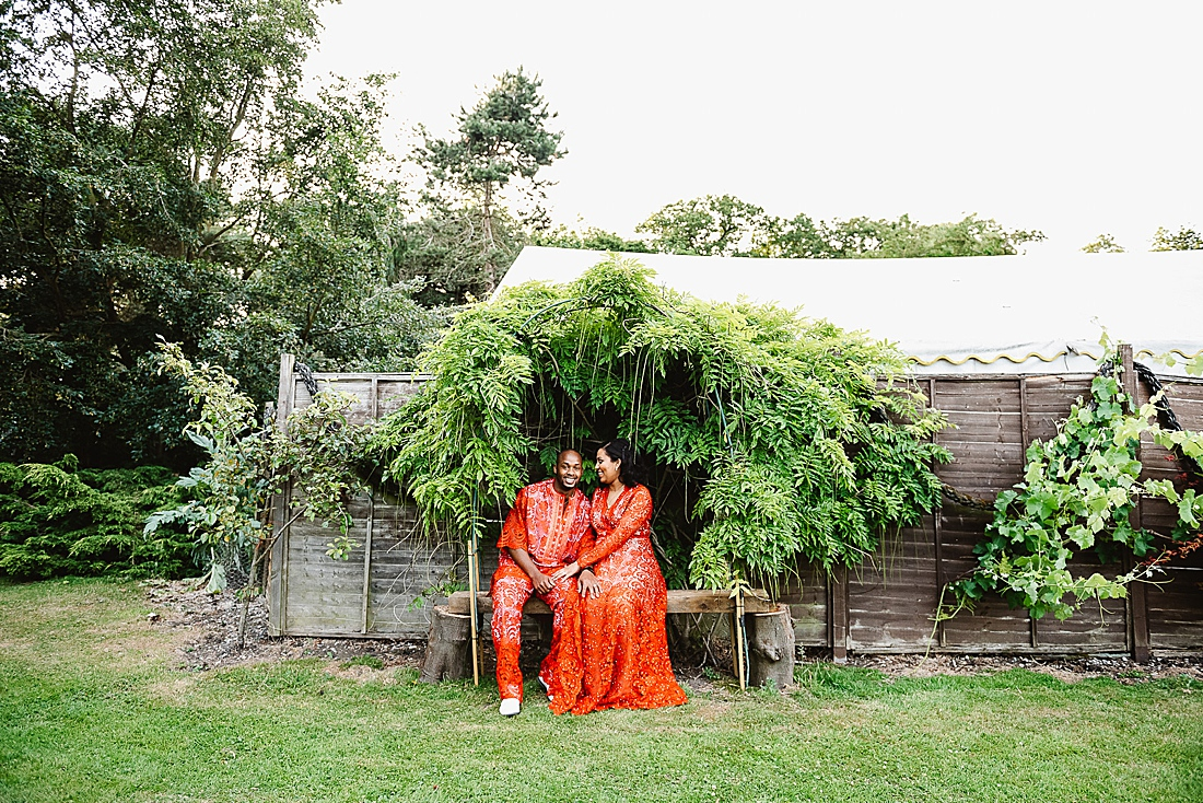 Traditional African wedding outfit London wedding © Fiona Kelly Photography