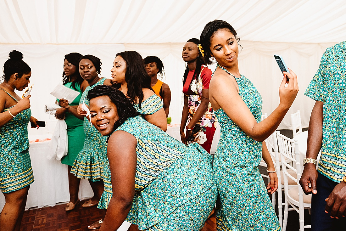 Twerking London wedding © Fiona Kelly Photography