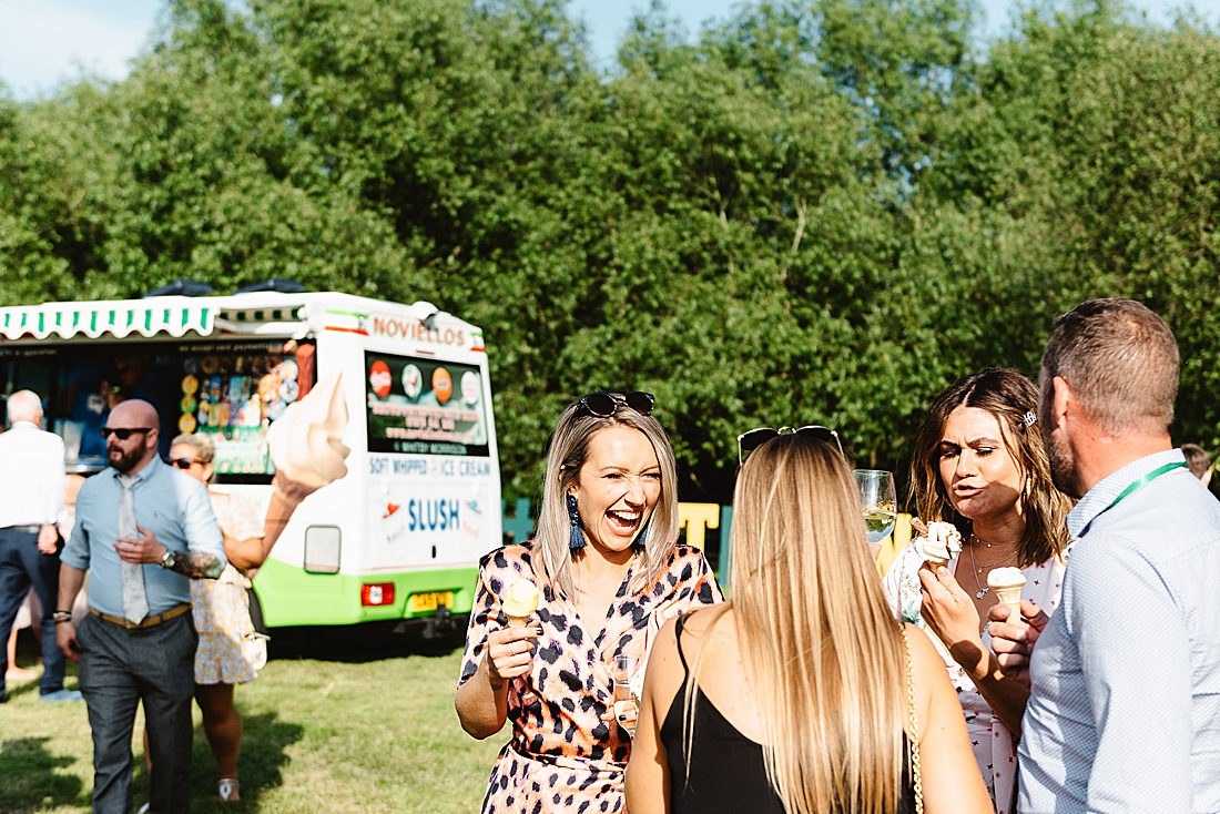 icecream truck festival wedding Hertfordshire