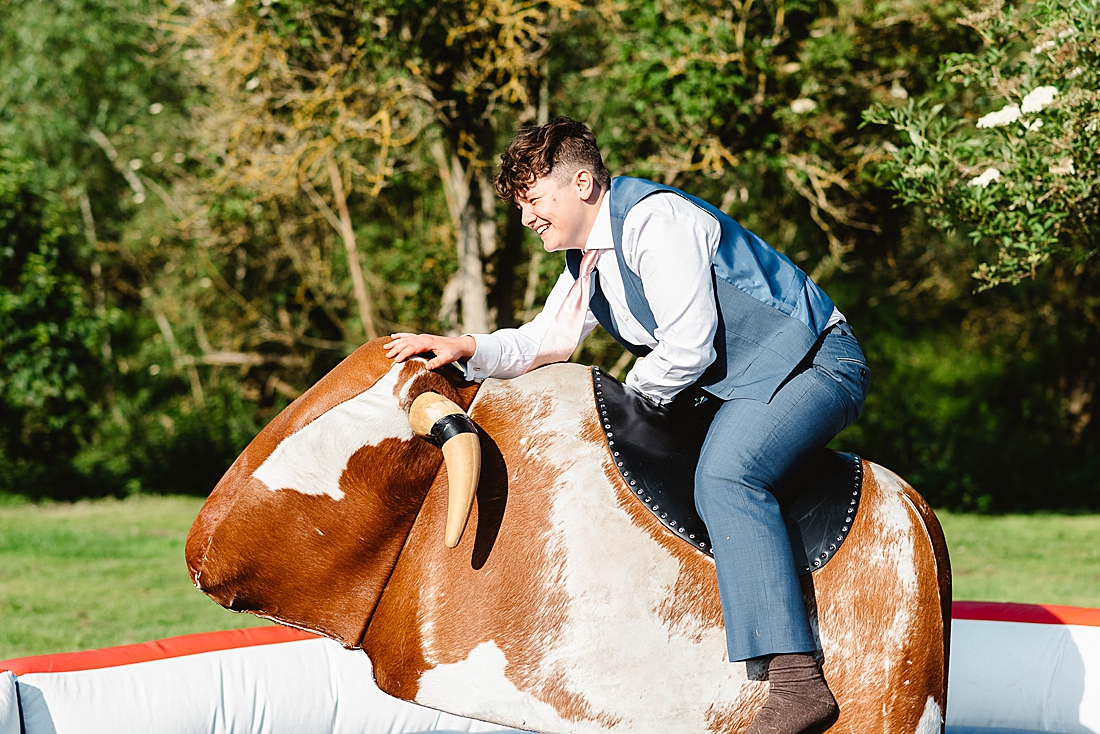 bucking bronco festival wedding Hertfordshire