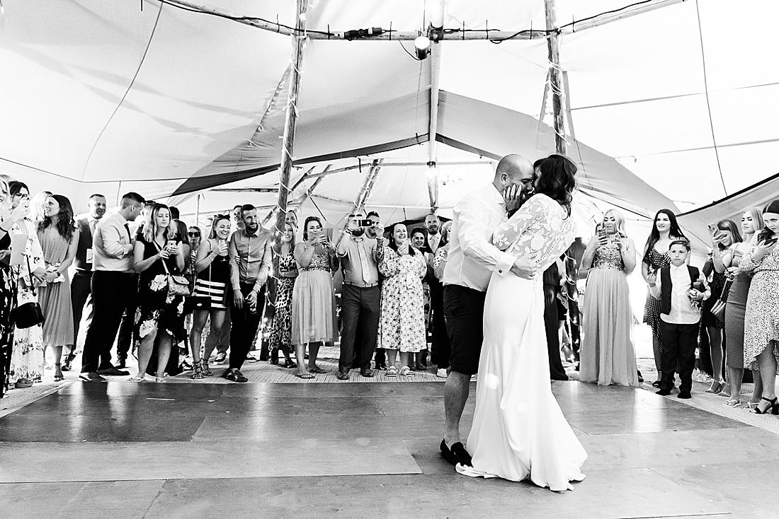 festival wedding Hertfordshire first dance