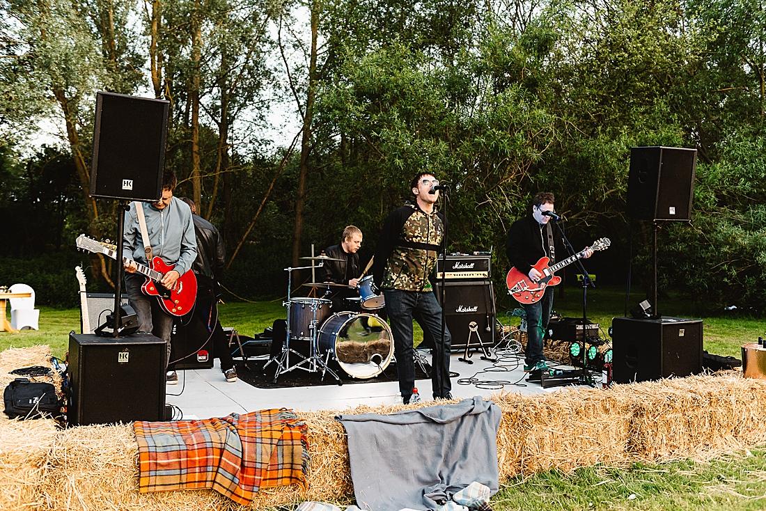 Oasis tribute band festival wedding Hertfordshire