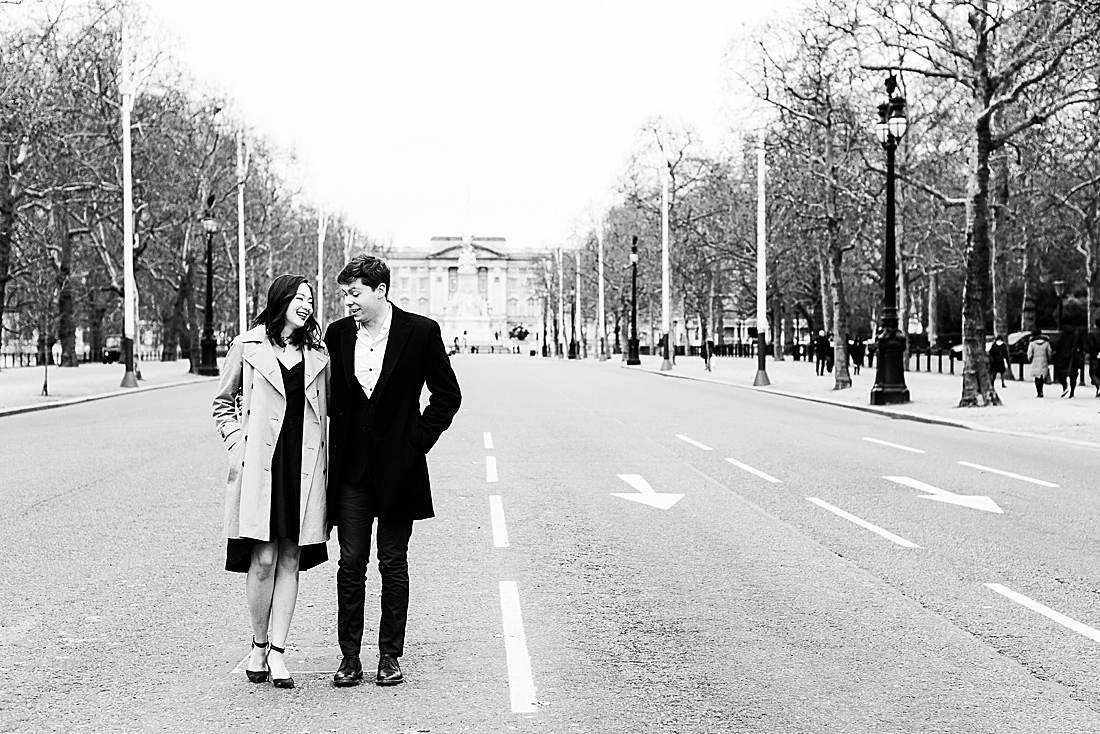 London engagement photography Pall Mall