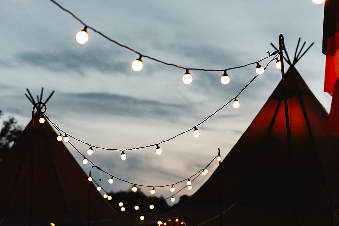 festoon lighting festival wedding Hertfordshire