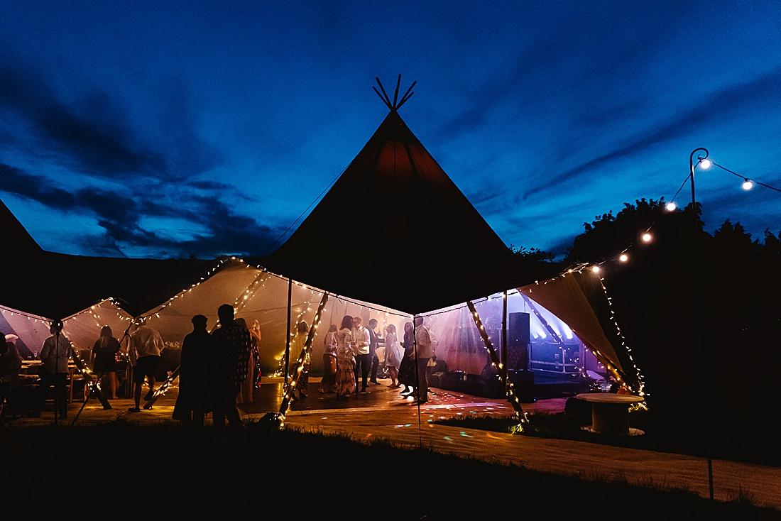 giant tipi festival wedding Hertfordshire