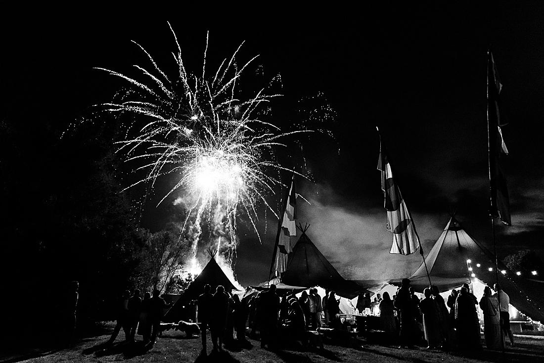 fireworks send off festival wedding Hertfordshire