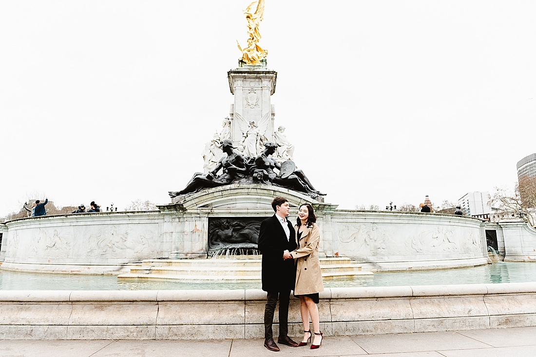 Queen Victoria memorial London engagement photography