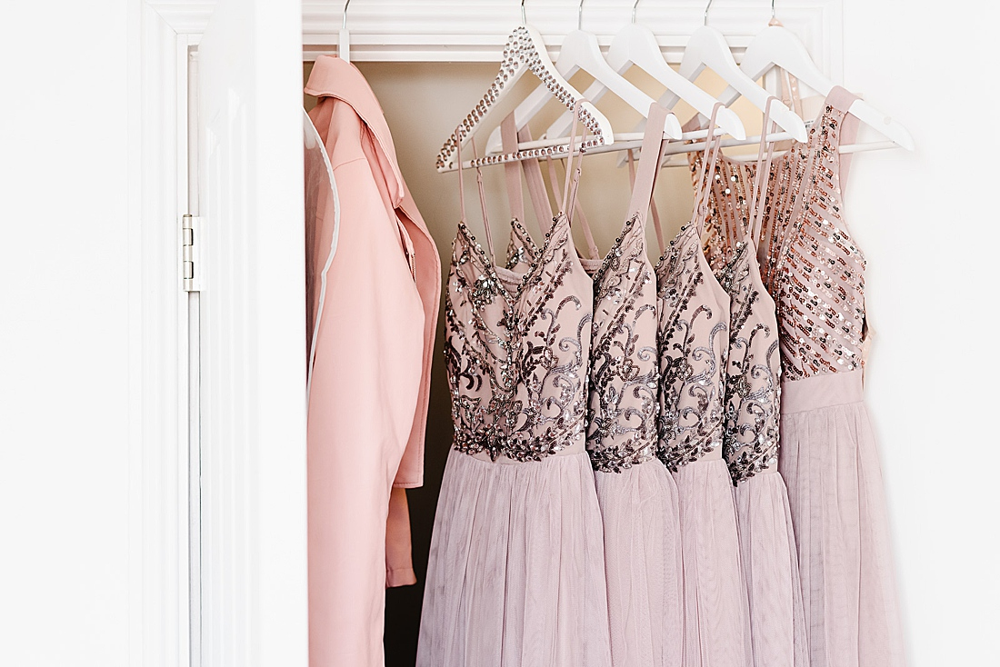 Pale pink bridesmaid dresses Herts