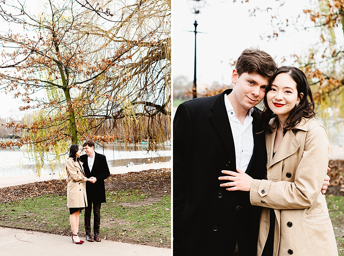 London engagement photography in autumn